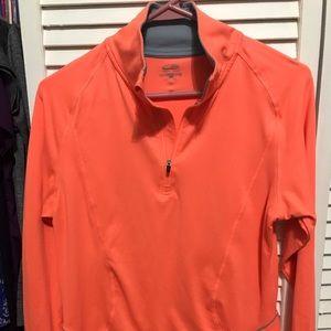Neon orange quarterzip from Target